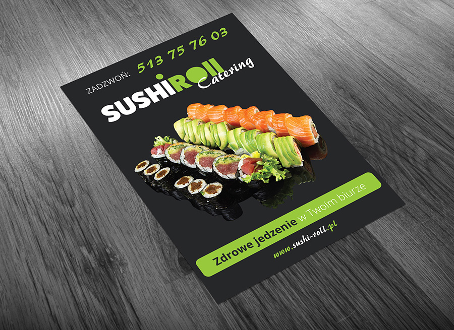 Sushi Roll - Catering, oferta A4 - awers